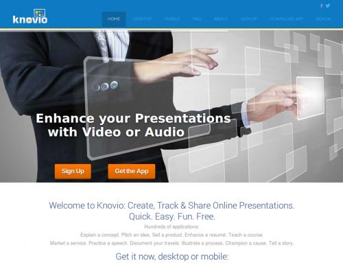 Knovio, herramienta para narrar presentaciones